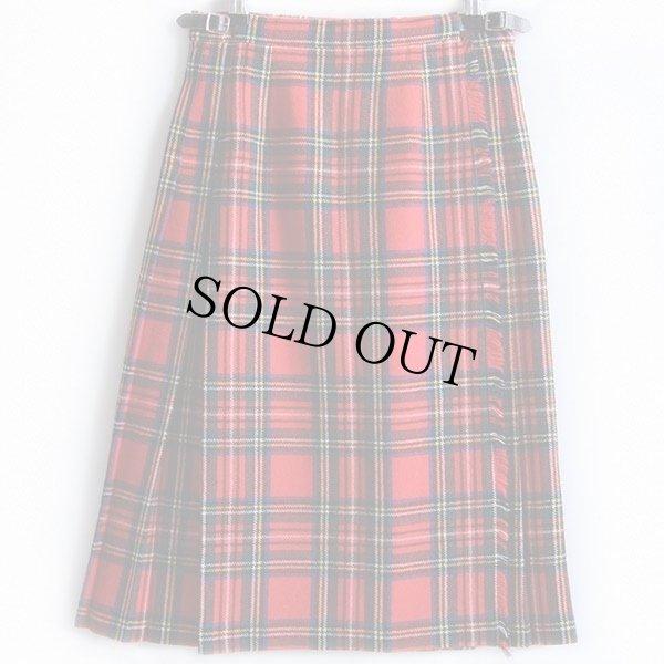 画像1: スコットランド製 Laird-Portch タータンチェック ウール キルトスカート 12