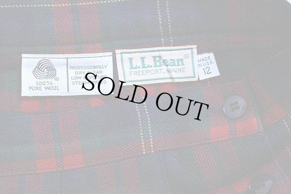 画像3: 80s USA製 L.L.Bean タータンチェック ウール プリーツスカート 12