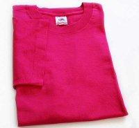 90s USA製 FRUIT OF THE LOOM 無地 コットンTシャツ ピンク M