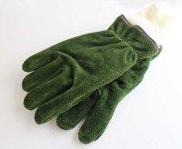 デッドストック★90s USA製 SHELBY ファイヤーマン スエード レザーグローブ 深緑 L★手袋