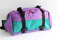 90s Lowe Alpineロウアルパイン ツートン ナイロン ウエストバッグ 紫×緑