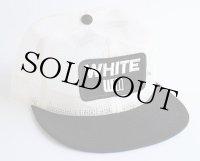 70s WHITE WM パッチ付き ツートン オールメッシュキャップ 白×黒