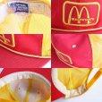 画像4: 80s McDonald'sマクドナルド パッチ付き ツートン メッシュキャップ 赤×黄 (4)