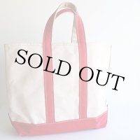 70s L.L.Bean BOAT AND TOTE 耳付き キャンバス トートバッグ 赤 M★ミディアム