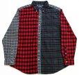 画像1: CHAPS クレイジーパターン タータンチェック ボタンダウン オックスフォード コットンシャツ (1)