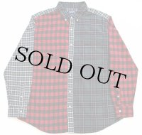 CHAPS クレイジーパターン タータンチェック ボタンダウン オックスフォード コットンシャツ