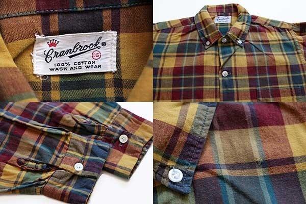 画像3: 60s Cranbrook チェック ボタンダウン コットンシャツ ボーイズ16