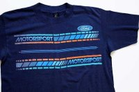 80s USA製 Fordフォード MOTORSPORT Tシャツ 紺 L