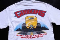 00s Hanes GOODGUYS HEARTLAND nationals HOTROD 両面プリント コットンTシャツ 白 S