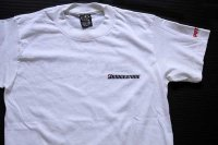 80s USA製 BRIDGESTONE POTENZA ロゴ 両面プリント Tシャツ 白 M
