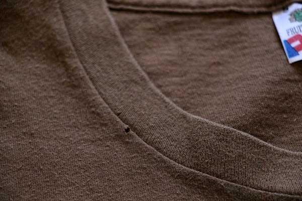 画像5: 80s USA製 FRUIT OF THE LOOM ステンシル コットンTシャツ 茶 S