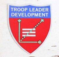 デッドストック★USA製 BSA ボーイスカウト TROOP LEADER DEVELOPMENT ステッカー