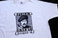 デッドストック★90s USA製 FRUIT OF THE LOOM PUBLIC ENEMY サダム フセイン コットンTシャツ 白×黒 XXL★H