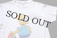80s USA製 The Simpsons シンプソンズ バート コットンTシャツ 白 L