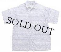 90s patagoniaパタゴニア 総柄 半袖 オーガニックコットンシャツ L