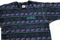 90s USA製 JACKSON HOLE 発泡ロゴ スキー 総柄 手刷り オールオーバー コットンTシャツ M