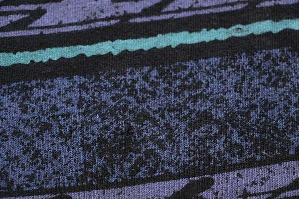 画像5: 90s USA製 JACKSON HOLE 発砲ロゴ スキー 総柄 手刷り オールオーバー コットンTシャツ M