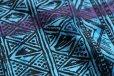 画像4: デッドストック★90s USA製 MAUi モックネック 総柄 染み込みプリント コットンTシャツ M (4)