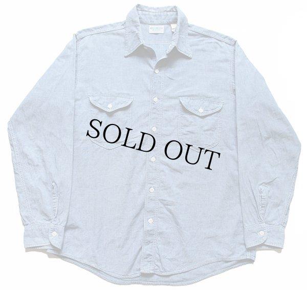 画像1: 70s USA製 OSHKOSH B'GOSH コットン シャンブレーシャツ