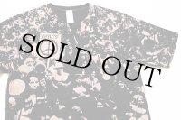 WOODSTOCKウッドストック風 PEACE オールオーバープリント Tシャツ 黒 M