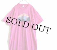 90s USA製 L.L.Bean コットンTシャツ ワンピース ピンク