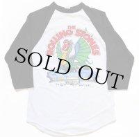 00s THE ROLLING STONESローリングストーンズ 81 ツアー ラグラン 七分袖Tシャツ 白×黒 S