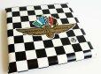 画像1: ビンテージ INDIANAPOLIS MOTOR SPEEDWAY チェッカーフラッグ シート クッション★B (1)