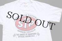 90s USA製 STP ロゴ コットンTシャツ 白 M