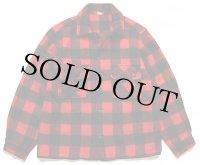 60s Fashion Wagon MINNESOTA WOOLEN バッファローチェック ウールシャツジャケット 赤×黒