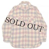 70s Woolrichウールリッチ ブロックチェック ウールシャツ M