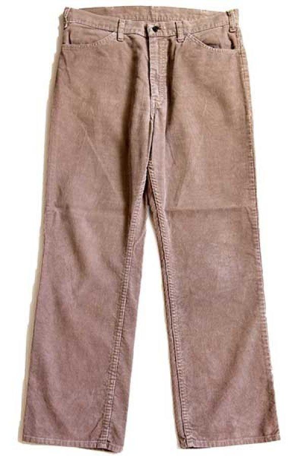 画像2: 80s USA製 JCPenney Plain Pockets コーデュロイパンツ ベージュ w34 L29