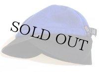 00s patagoniaパタゴニア ロゴ刺繍 ツートン 切り替え シンチラ ダックビル フリースキャップ 青×黒 L
