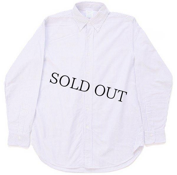 画像2: USA製 Brooks Brothersブルックスブラザーズ MILANO ストライプ ボタンダウン オックスフォード コットンシャツ 薄紫×白 16