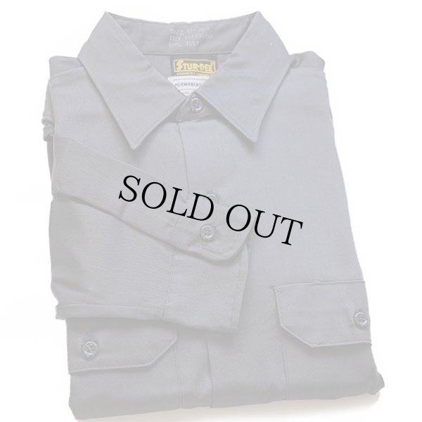 画像1: デッドストック★70s STUR-DEE ワークシャツ チャコールグレー M