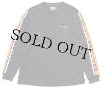 00s USA製 HARLEY-DAVIDSONハーレー ダビッドソン ロゴ刺繍 コットン 長袖Tシャツ 黒 L