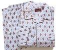 画像1: デッドストック★80s Wellington 総柄 プリントネル パジャマ シャツ&パンツ セット C (1)