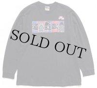 00s NIKEナイキ AIR エアフォース1 両面プリント コットン 長袖Tシャツ 黒 L