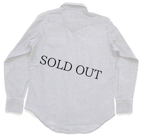 画像2: 80s USA製 Wranglerラングラー ブラックデニム ウエスタンシャツ