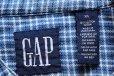 画像4: 90s GAPギャップ バンドカラー チェック コットン ライトネルシャツ XL