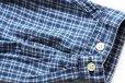 画像6: 90s GAPギャップ バンドカラー チェック コットン ライトネルシャツ XL
