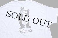 Bierstube × Hamm's BEER 両面プリント コットンTシャツ 白 2XL