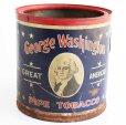 画像1: ビンテージ George Washington PIPE TOBACCO タバコ缶★ジャンク (1)
