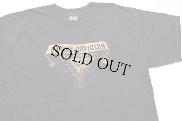 画像1: 00s USA製 HARLEY-DAVIDSON ハーレー ダビッドソン WIEBLER'S 両面プリント コットンTシャツ 黒 XL