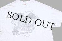 00s USA製 HARLEY-DAVIDSON ハーレー ダビッドソン J&L イーグル 両面プリント コットンTシャツ 白 2XL
