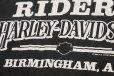 画像4: 90s USA製 Hanes HARLEY-DAVIDSON ハーレー ダビッドソン BIRMINGHAM 両面プリント コットン ポケットTシャツ 黒 L