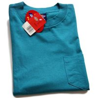 デッドストック★90s USA製 Dickiesディッキーズ 無地 コットン ポケットTシャツ エメラルドグリーン XL