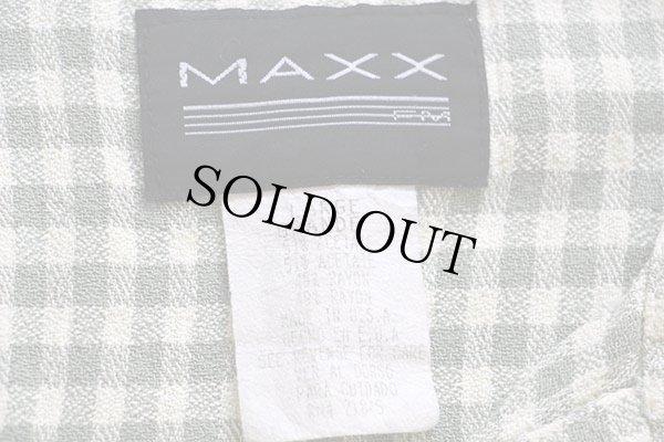 画像3: 90s USA製 MAXX ギンガムチェック 半袖 レーヨン混 オープンカラーシャツ 薄緑×アイボリー L