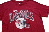 80s USA製 Championチャンピオン NFL ST. LOUIS CARDINALS Tシャツ バーガンディ L