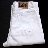 80s USA製 Leeリー 302-8310 ツイルパンツ カスタム ホワイト 11
