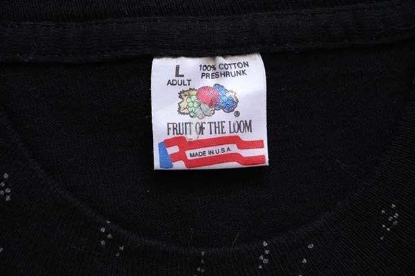 画像5: 90s USA製 ウルフ オールオーバープリント アート コットンTシャツ 黒 L